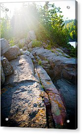 Acrylic Print featuring the photograph Sunlight On Cove Point by Alex Blondeau