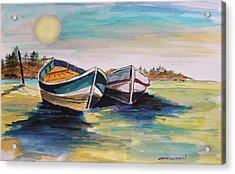 Sunlight On Flat Water Acrylic Print by John Williams