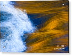 Sunlight On Flowing River Acrylic Print by Bill Brennan - Printscapes