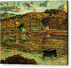 Sunlight On The Harlem River 1919 Acrylic Print