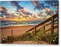 Acrylic Print featuring the photograph Sunlight On The Sand by Debra and Dave Vanderlaan