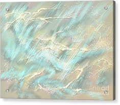 Acrylic Print featuring the digital art Sunlight On Water by Amyla Silverflame