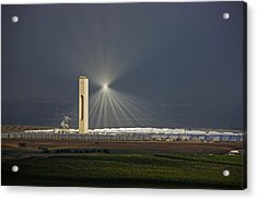 Sunlight Reflects Off Of Low Clouds Acrylic Print by Michael Melford