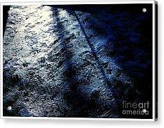 Sunlight Shadows On Ice - Abstract Acrylic Print