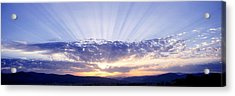 Sunlight Through Clouds Tuscany Italy Acrylic Print by Panoramic Images