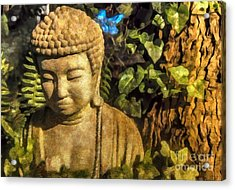 Sunlit Buddha 2015 Acrylic Print