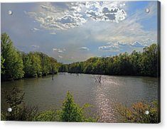 Sunlit Clouds Acrylic Print