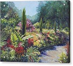 Sunlit Garden Acrylic Print