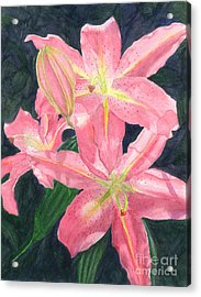 Sunlit Lilies Acrylic Print