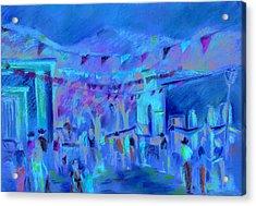 Sunlit Market Acrylic Print by Joan  Jones