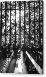 Sunlit Stained Glass At Czestochowa Shrine, Pa Acrylic Print