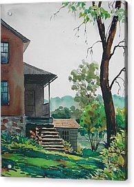 Sunlit Steps Acrylic Print by Faye Ziegler