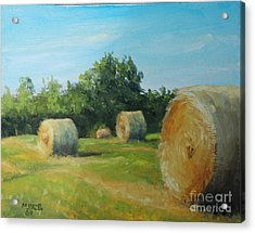 Sunner Harvest Acrylic Print by Mike Yazel