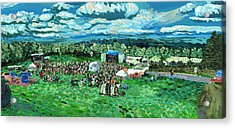 Acrylic Print featuring the painting Sunny Afternoon At Moedown by Denny Morreale