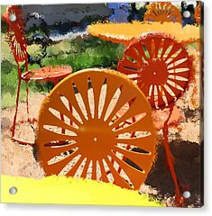Sunny Chairs 5 Acrylic Print by Geoff Strehlow