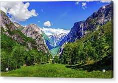 Acrylic Print featuring the photograph Sunny Day In Naroydalen Valley by Dmytro Korol