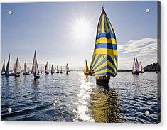 Sunny Day Sailing Acrylic Print by Tom Dowd