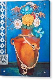Acrylic Print featuring the painting Sunny Disposition by M Diane Bonaparte