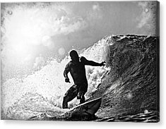 Sunny Garcia In Black And White Acrylic Print by Paul Topp