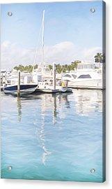 Sunny Harbor Acrylic Print