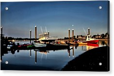 Sunny Morning At Onset Pier Acrylic Print