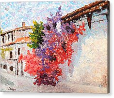 Sunny Morning In Greece Acrylic Print