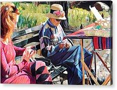 Sunday In The Park - Central Park New York Acrylic Print by Miriam Danar