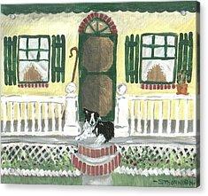 Sunny Porch Acrylic Print by Sue Ann Thornton