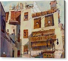 Sunny Shutters Arabia Acrylic Print by Dorothy Boyer