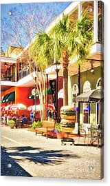 Sunny Side Of The Street Acrylic Print by Mel Steinhauer