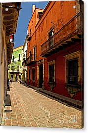 Sunny Street Acrylic Print by Mexicolors Art Photography