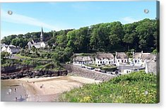 Sunny Summer Sunday In Dunmore East  Acrylic Print