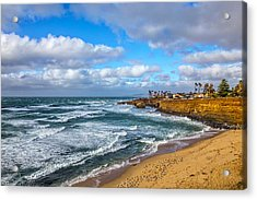 Sunny Sunset Cliffs Acrylic Print by Peter Tellone