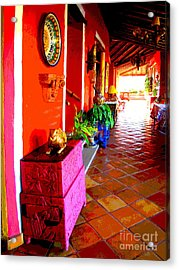 Sunny Veranda By Darian Day Acrylic Print by Mexicolors Art Photography