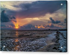 Sunrays Over The Gulf Of Mexico Acrylic Print