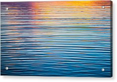 Sunrise Abstract On Calm Waters Acrylic Print by Parker Cunningham