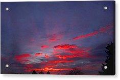 Sunrise Abstract, Red Oklahoma Morning Acrylic Print
