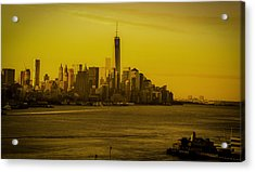 Sunrise Across The Hudson Acrylic Print