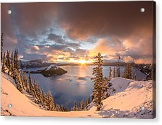 Sunrise After Summer Snowfall Acrylic Print