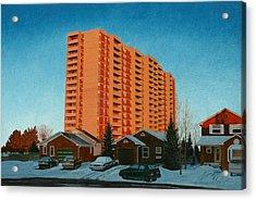 Sunrise Ajax Acrylic Print by Allan OMarra