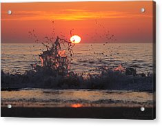Sunrise And Splashes Acrylic Print