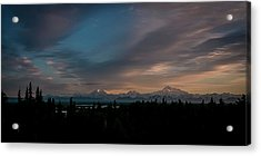 Sunrise And The Alaska Range Acrylic Print