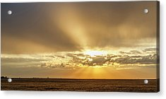 Acrylic Print featuring the photograph Sunrise And Wheat 04 by Rob Graham