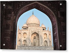 Sunrise Arches Of The Taj Mahal Acrylic Print