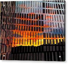 Sunrise Acrylic Print by Art Nomad Sandra  Hansen