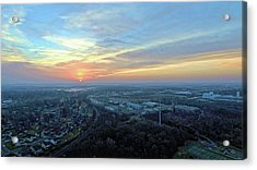 Sunrise At 400 Agl Acrylic Print by Dave Luebbert