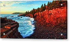 Sunrise At Acadia Acrylic Print