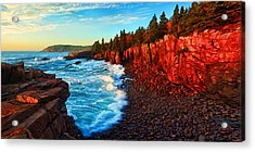 Sunrise At Acadia Acrylic Print by ABeautifulSky Photography