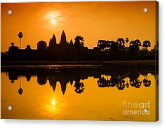 Sunrise At Angkor Wat Acrylic Print