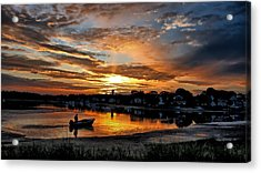 Sunrise At Back Cove Acrylic Print